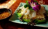 Сырые креветки по-тайски Кунг Чай Нам Пла (กุ้งแชน้ำปล่า)
