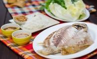 Рыба в соли — Пла Пао (ปลาเผา)