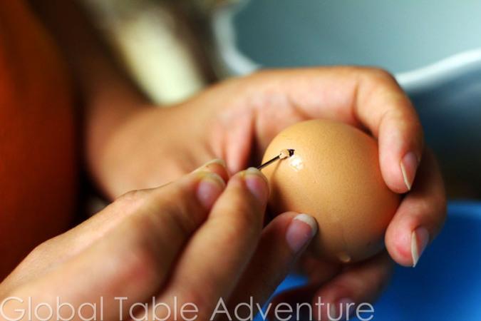 Прокалывание яичек спицами