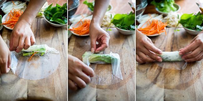 Рецепты спринг роллов из рисовой бумаги